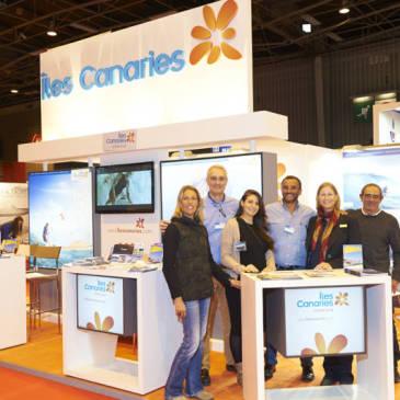 Gran acogida del stand de Islas Canarias en el Salón Náutico de París 2014